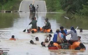 Kodim 1017 Lamandau Maksimalkan Peran Dalam Penanggulangan Bencana Banjir