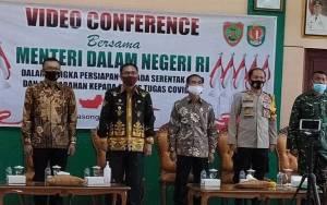 Wakil Bupati Katingan HadiriVideo Conference Bersama Menteri Dalam Negeri