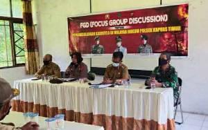 Unsur Tripika Kecamatan Kapuas Timur FGD Kesiapan Antisipasi Karhutla