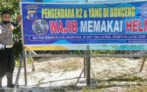 Satlantas Polres Seruyan Ingatkan Pengendara Patuh Gunakan Helm