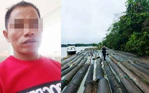 Ancam Petugas dengan Parang, Terduga Pemilik Kayu Ilegal Ditembak