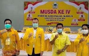Jaya S Monong Kembali Terpilih Jadi Ketua DPD Partai Golkar Kabupaten Gunung Mas
