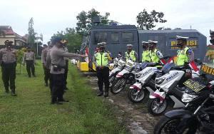 120 Personel Ikuti Apel Gelar Pasukan Operasi Patuh Telabang di Polres Lamandau