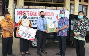 Pemkab Lamandau Terima Bantuan 500 Paket Sembako dari Bank Kalteng untuk Korban Banjir