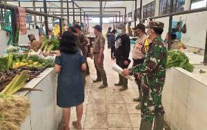 Pedagang di Pasar Rakyat Tangkiling Diminta Terapkan Protokol Kesehatan