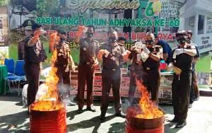 Kejaksaan Negeri Barito Utara Musnahkan Barang Bukti untuk Antisipasi Hal ini