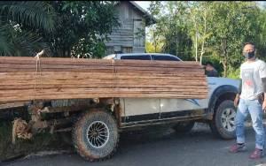 Bawa Kayu Ilegal, 2 Pria di Gunung Mas Ditangkap Polisi