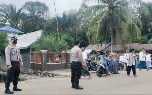 Polsek Patangkep Tutui Patroli Pengamanan Salat Idul Adha di Tiga Desa