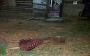 Pelaku Pembunuh Ayah Tiri Sempat Kabur dan Tidur di Pondok Kebun Ubi Belakang Rumah