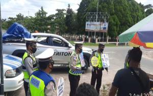 Satlantas Polres Katingan Sosialisasi AKB pada Operasi Patuh Telabang