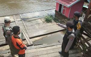 Tim Gabungan di Seruyan Hulu Rutin Cek Debit Air Sungai Antisipasi Banjir