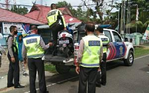 26 Pengendara Terjaring Razia pada Operasi Patuh Telabang di Kapuas