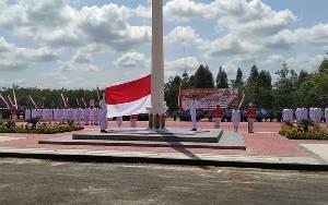Petugas Pengibar Bendera HUT ke 75 Kemerdekaan RI di Pulang Pisau Hanya Disiapkan 3 Orang