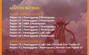 7 Warga Kotawaringin Timur Sembuh dari Covid-19, Asal Kecamatan Ketapang dan Parenggean