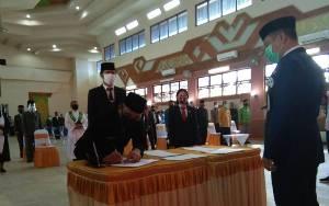 Bupati Barito Selatan Ingatkan Pejabat Baru untuk Terapkan Sumpah Janji