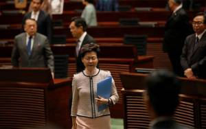 Amerika Beri Sanksi Kepala Pemerintahan Hong Kong Carrie Lam
