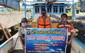 Satpolair Polres Kobar Sosialisasi?Setop Illegal Fishing Ajak?Masyarakat Lestarikan Lingkungan Air