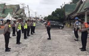 Polsek Kahayan Hilir Lakukan Pengamanan Kunjungan Ketua Bawaslu RI