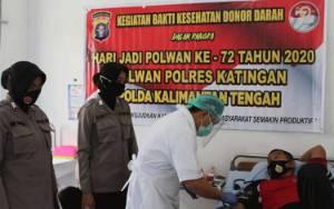 Polres Katingan Gelar Donor Darah Peringati HUT Polwan