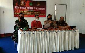 Polsek Kapuas Murung Bersama Unsur Tripika Gelar FGD Penanggulangan Karhutla