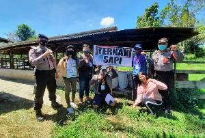Kapolsek Kahayan Hilir Ajak Masyarakat Desa Mantaren II Gotong Royong Persiapkan Desa Isen Mulang