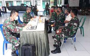 Kodim Palangka Raya Terima Tim Wasrik Inspektorat Kodam XII Tanjungpura