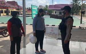 Masuk Mako Polres Seruyan Wajib Ikuti Protokol Kesehatan