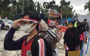 Satlantas Polres Kobar Terapkan Protokol Kesehatan Ketat di Pelaksanaan Lomba Menggambar