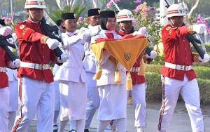 Paskibra Upacara HUT ke 75 Kemerdekaan RI di Palangka Raya Hanya 5 Orang