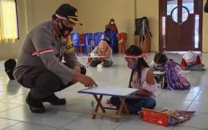 Satlantas Polres Sukamara Gelar Lomba Menggambar Tingkat SD Dan SMP