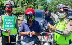 Polresta Palangka Raya Ingatkan Keselamatan Berlalu Lintas dan Protokol Kesehatan