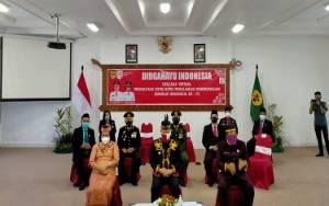 Pemkab Gunung Mas dan Forkopimda Ikuti Detik-Detik Proklamasi Kemerdekaan RI Secara Virtual