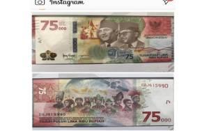 Ini Ciri-ciri Uang Pecahan Rp 75.000 yang Dirilis BI