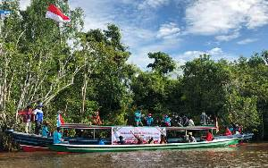 KNPI Kapuas Semarakkan HUT Kemerdekaan RI Sekaligus Kenalkan Potensi Wisata di Pulau Kupang