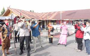 Belasan Peserta Ikuti Lomba Menyumpit di Polres Barito Selatan