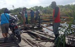 Ini Lokasi Jembatan Darurat di Dusun Karang Anyar