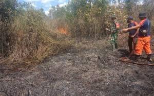 Tim Gabungan Padamkan Kebakaran Lahan di Nanga Bulik