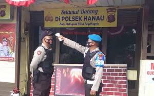 Polsek Hanau Terapkan Protokol Kesehatan Ketat