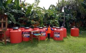 87 Tandon Air dari Gubernur Kalteng Telah Diterima BPBD Kobar