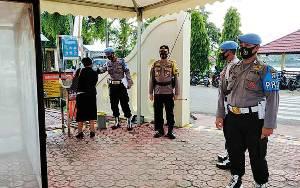 Polres Barito Utara Berlakukan Disiplin Protokol Kesehatan