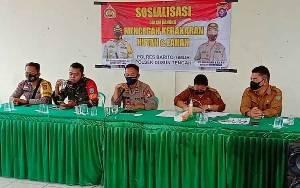 Polsek Dusun Tengah Sosialisasi Cegah Karhutla di Desa Lagan