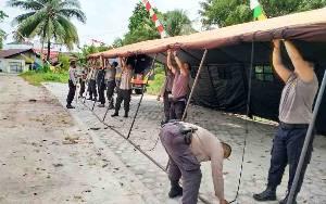Polisi Dirikan Tenda di KPU Palangka Raya