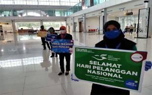 Angkasa Pura II Cabang Bandara Tjilik Riwut Manjakan Penumpang di Hari Pelanggan Nasional