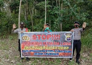 Patroli Dialogis, Personel Polsek Dusut Sosialisasikan Larangan Karhutla