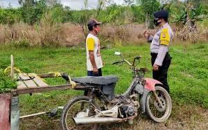 Bhabinkamtibmas Polsek Kahayan Hilir Imbau Masyarakat Tetap Jaga Lingkungan