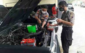 Polres Kapuas Cek Kondisi Kendaraan Dinas Tunjang Pengamanan Jelang Pilkada
