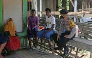 Personel Polsek Kapuas Murung Patroli Dialogis Jaga Kamtibmas Jelang Pilkada