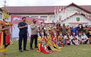 Polres dan Pemkab Barito Timur Gelar Maskerisasi Serentak dan Deklarasi Pilkada Damai