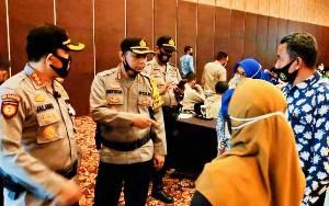Kapolresta Palangka Raya Cek Kesiapan Rapat Pleno KPU