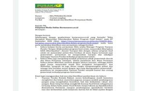 "Klarifikasi Yayasan Pusaka Bentala Rakyat terkait Berita Berjudul ""Ditta Harapkan Masyarakat Diberdayakan Dalam Program Food Estate"""